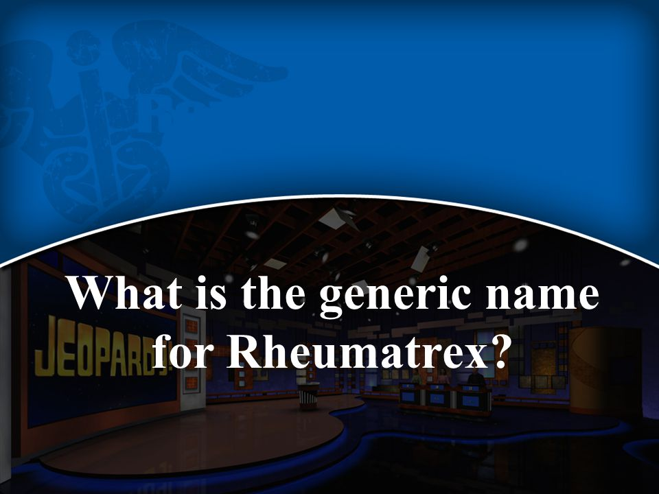 What is the generic name for Rheumatrex?