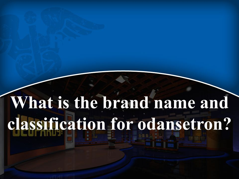 What is the brand name and classification for odansetron
