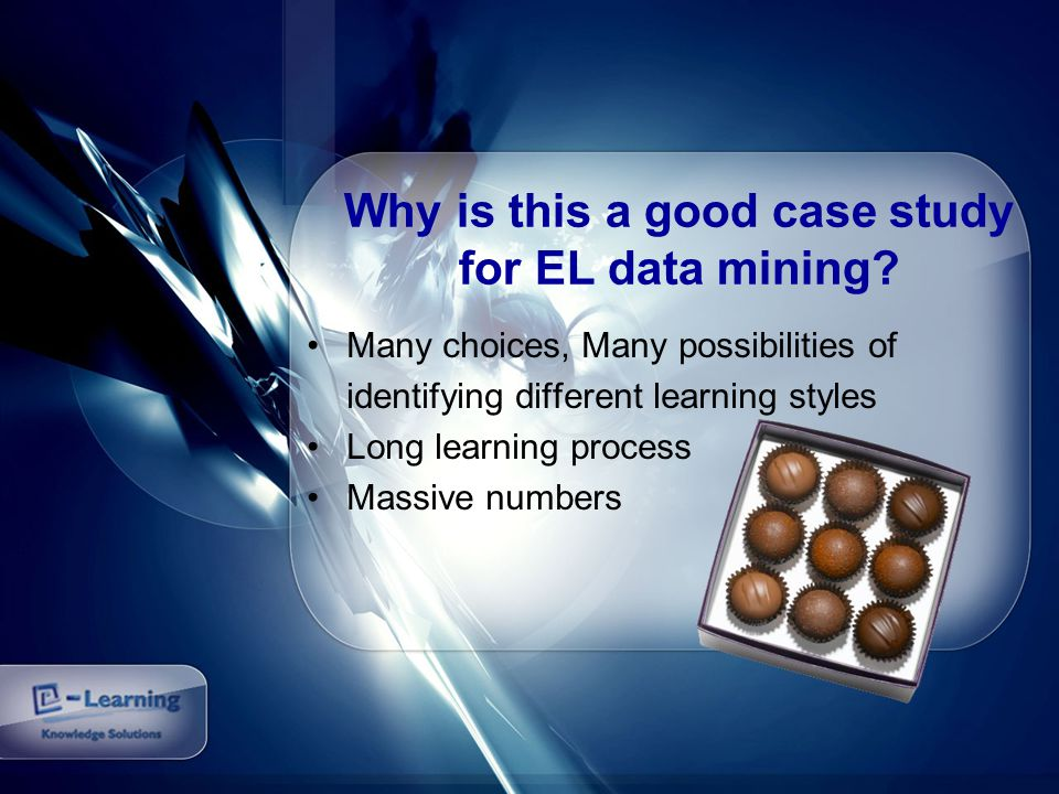 Why is this a good case study for EL data mining.
