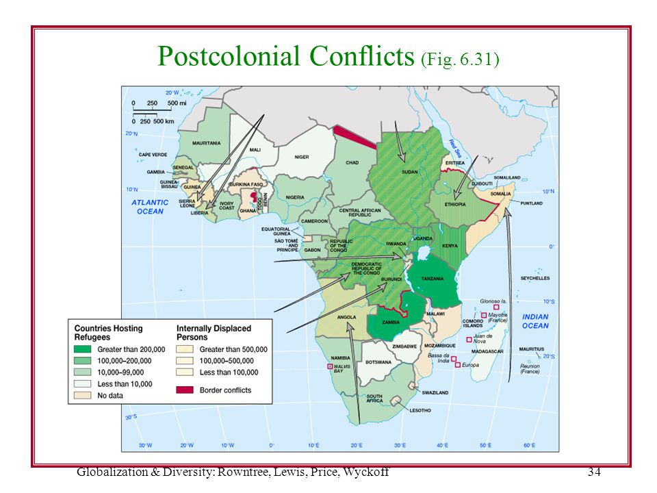 Globalization & Diversity: Rowntree, Lewis, Price, Wyckoff34 Postcolonial Conflicts (Fig. 6.31)