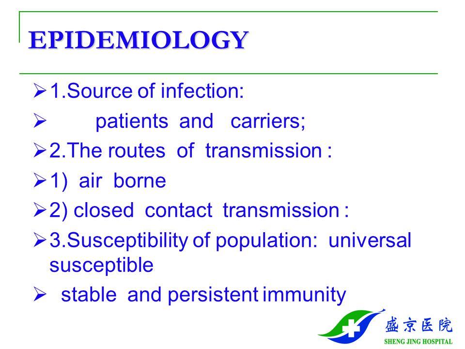  4.Epidemiologic feature:  (1).