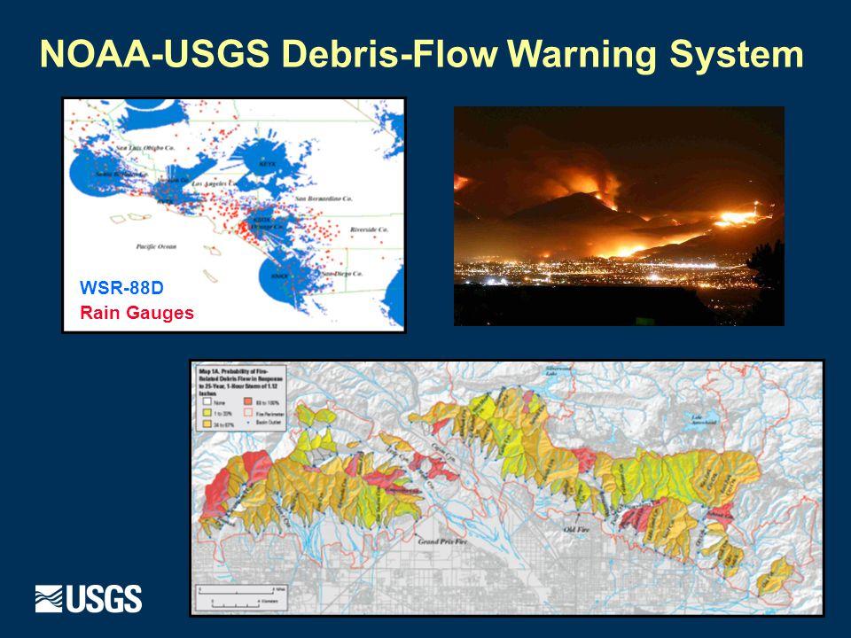 USGS Landslide needs under MPAR (B=baseline, O=optimal)  Radar Precipitation Product  Temporal resolution: 30 min (B); 10 min (O).