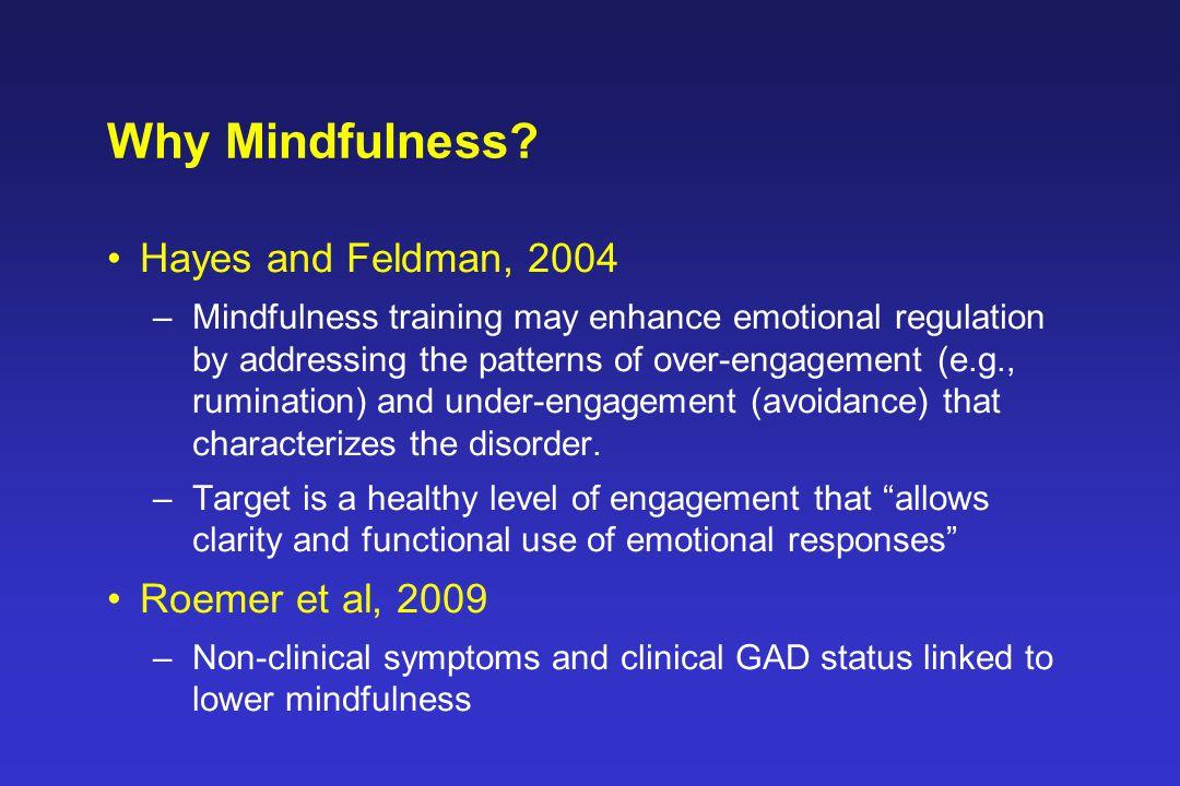 Why Mindfulness.