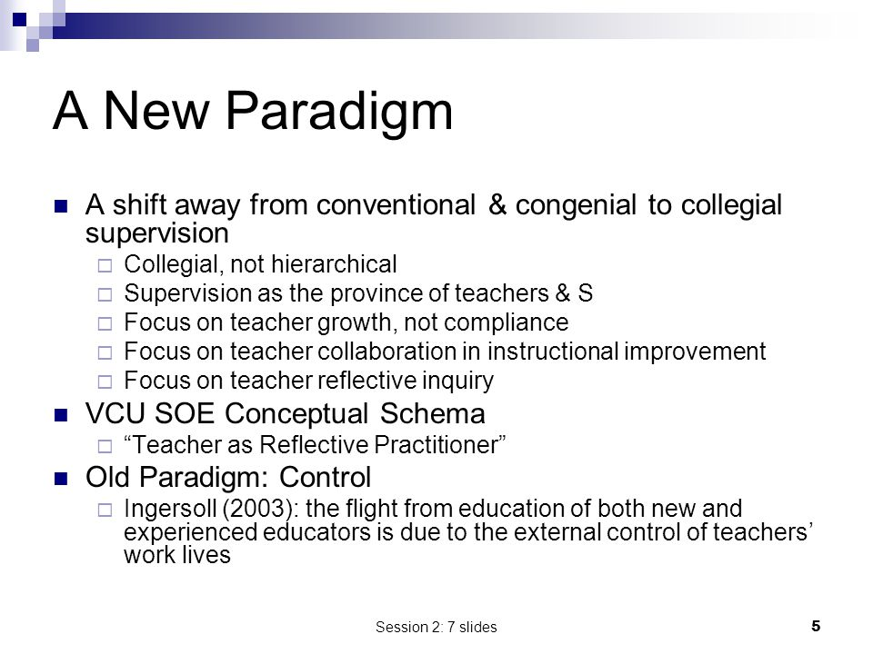Session 2: 7 slides6 Metaphor for Success Supervision = Leadership for the improvement of instruction