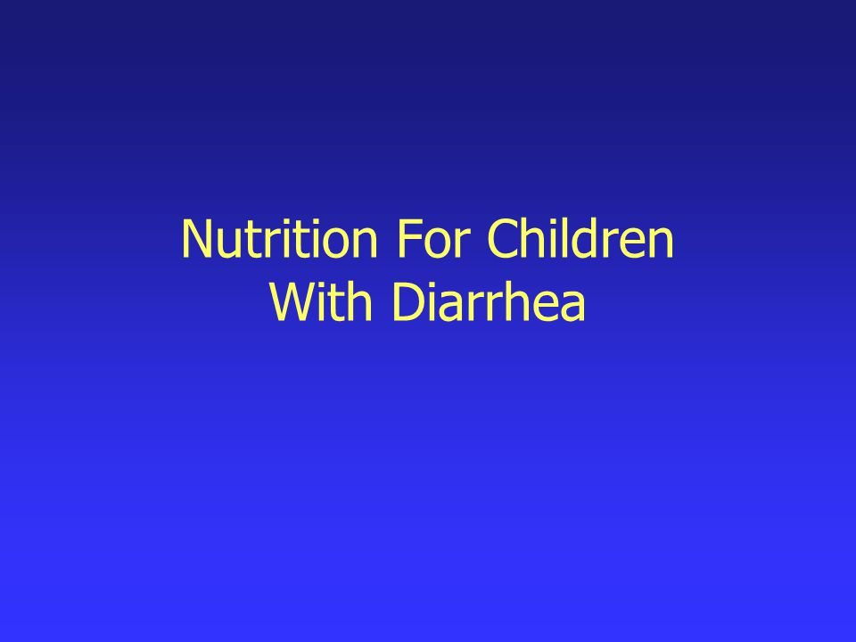 Why is diarrhea a concern for parents.