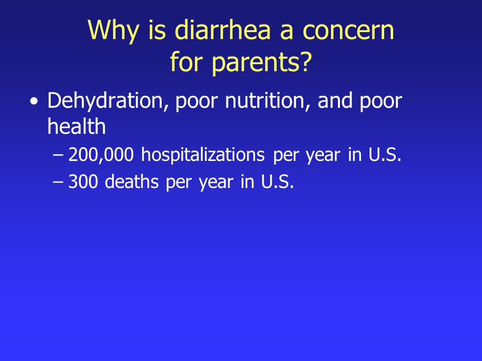 How can I tell if my child has diarrhea.