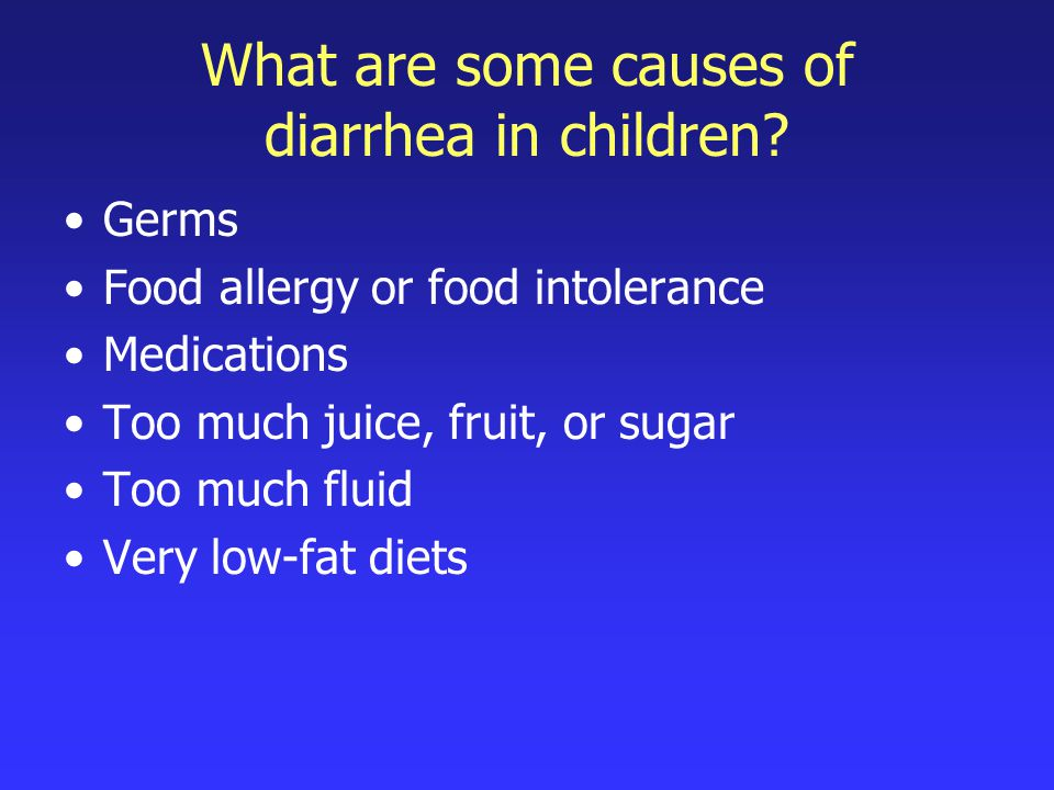 How long does diarrhea last.