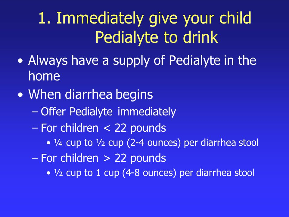 How can we offer Pedialyte to our children.