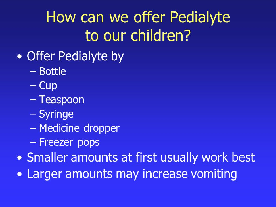 2.Watch for signs of dehydration Contact your doctor if your child shows any signs of dehydration.