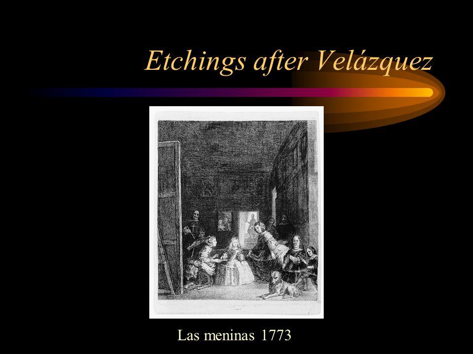 Etchings after Velázquez Las meninas 1773
