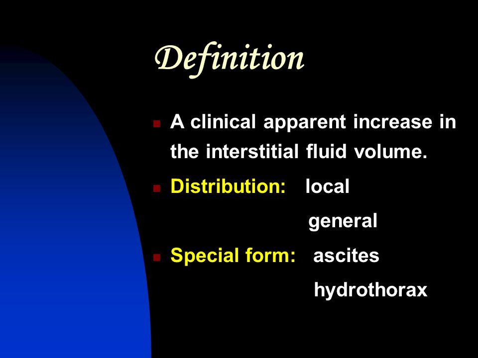 Miscellaneous:located pretibial region,periorbital region hypothyroidism(myxedema) Drug-induced edema Exogenous hyperadremocortism Estrogen vasodilators