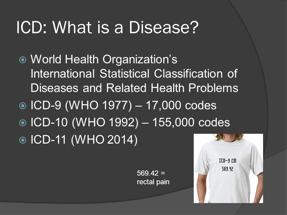 ICD: What is a Disease.