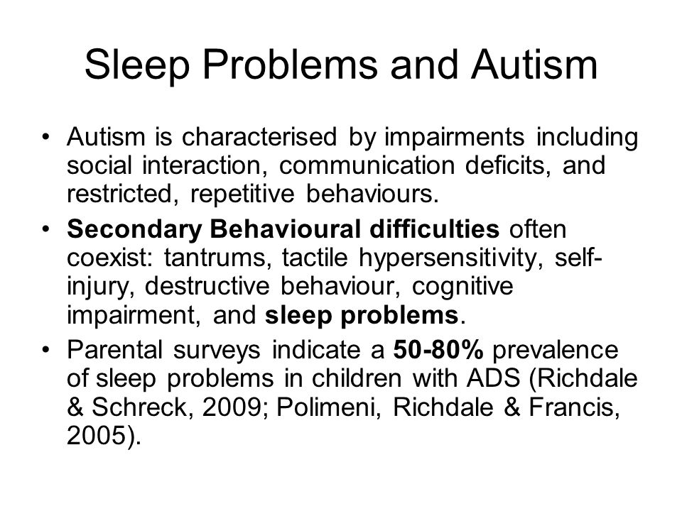 Sleep Problem The child typically wakes early in the morning between 4:00am and 5:00am.