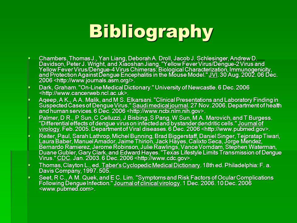 Bibliography  Chambers, Thomas J., Yan Liang, Deborah A.