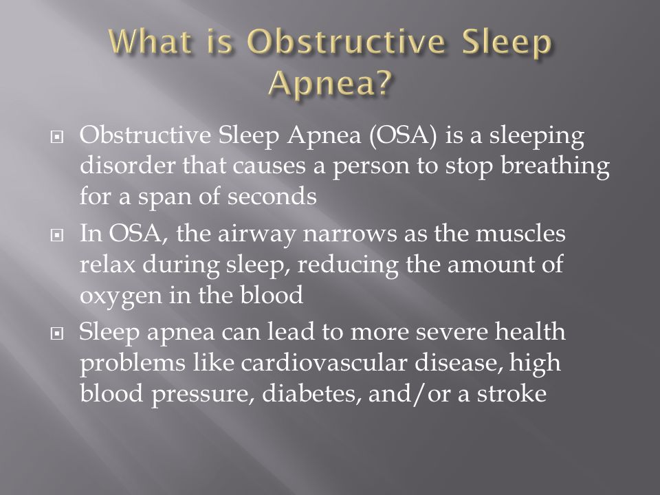  It is believed that 1 in 15 Americans (roughly 20 million) have sleep apnea  It is also believed that 80-90 percent of these people are unaware that they have it  Symptoms are loud snoring, restless sleep, and sleepiness during the day  It's more common in older people and those who are obese and/or active smokers
