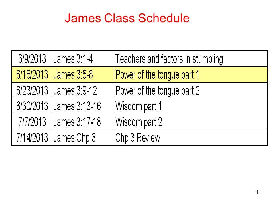 1 James Class Schedule