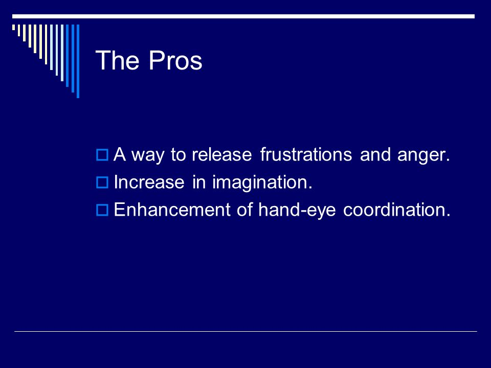 The Pros AA way to release frustrations and anger.
