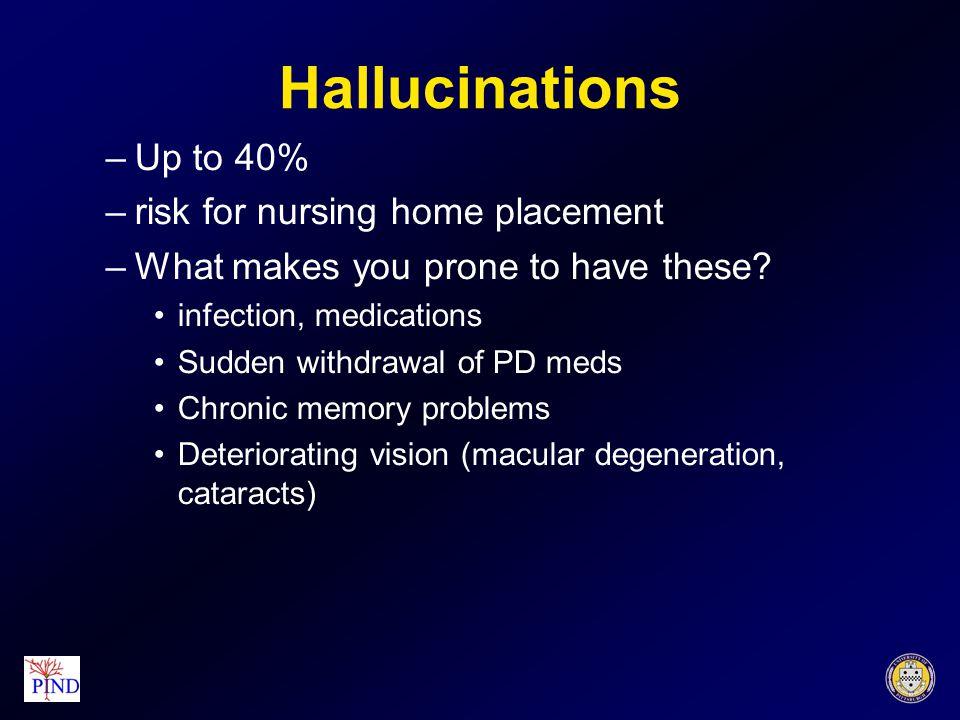 Selegeline/Rasagaline Nausea Dry mouth Constipation Confusion/hallucinations Insomnia