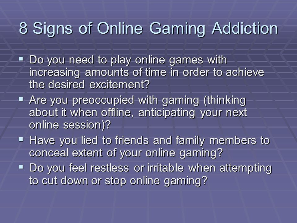 How To Stop Online Gaming Addiction