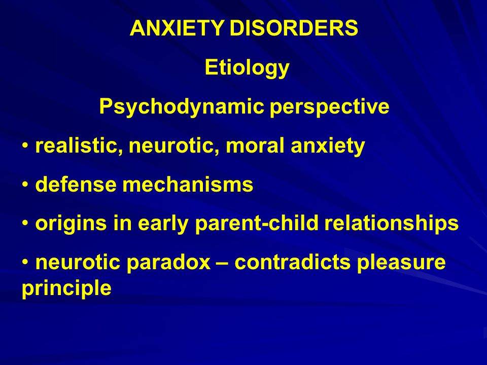 ANXIETY DISORDERS Types – Specific phobia animal environmental blood, injury, injection specific situation – elevators, flying other