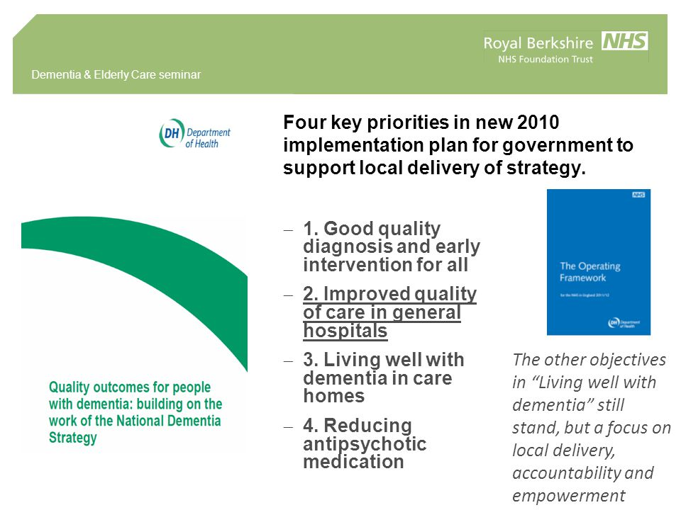 Four key priorities in new 2010 implementation plan for government to support local delivery of strategy.