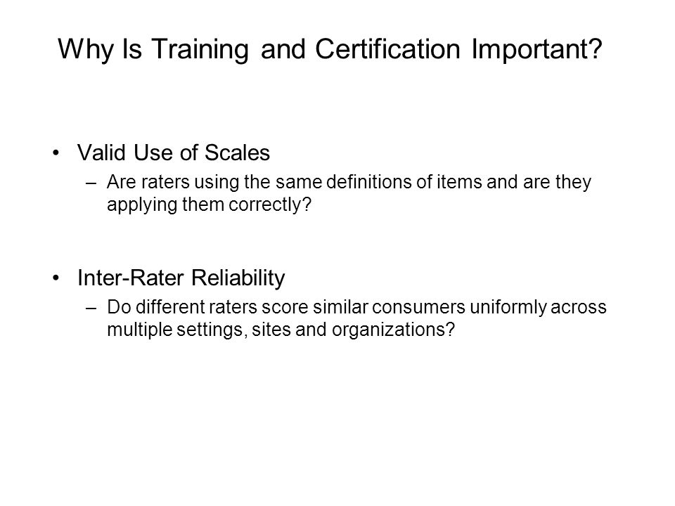 Why Is Training and Certification Important.