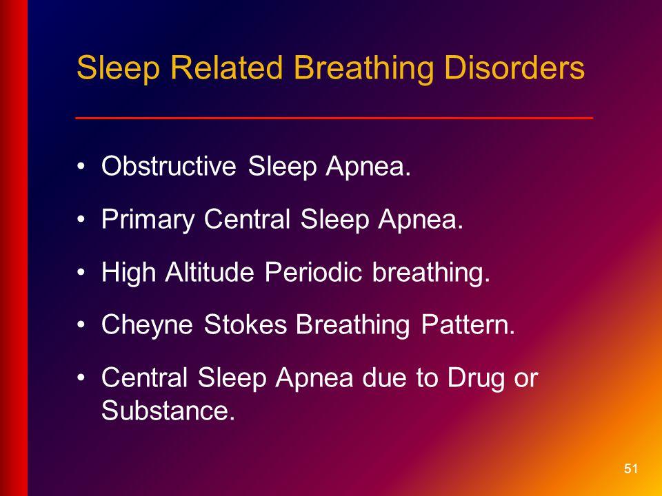 51 Sleep Related Breathing Disorders ____________________________ Obstructive Sleep Apnea.