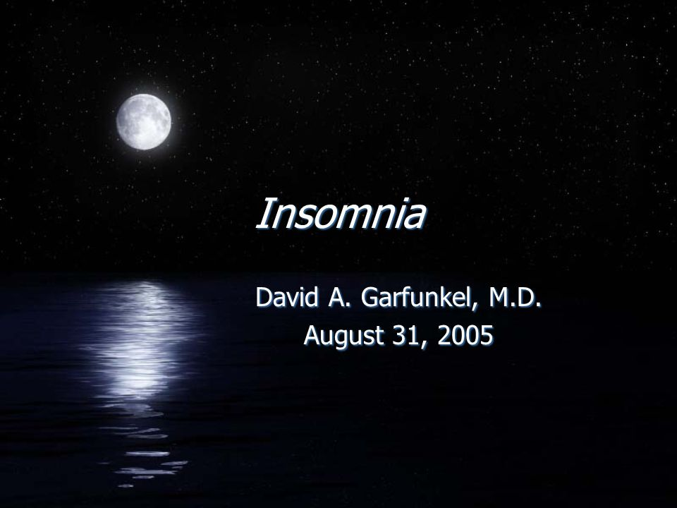 FTransient Insomnia - Symptoms present for less than one week FShort Term Insomnia - Symptoms for 1-4 weeks FChronic Insomnia - Symptoms present for more than one month FTransient Insomnia - Symptoms present for less than one week FShort Term Insomnia - Symptoms for 1-4 weeks FChronic Insomnia - Symptoms present for more than one month