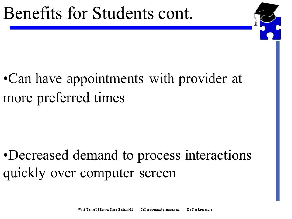 Benefits for Students cont.