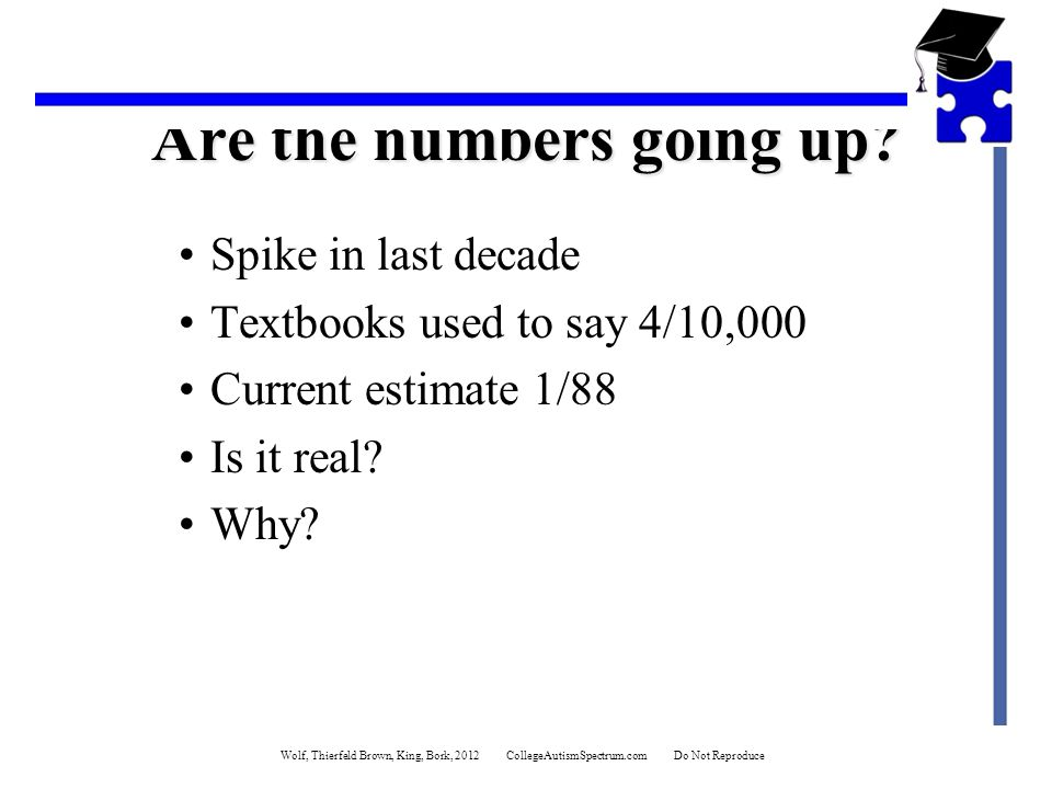 Are the numbers going up.