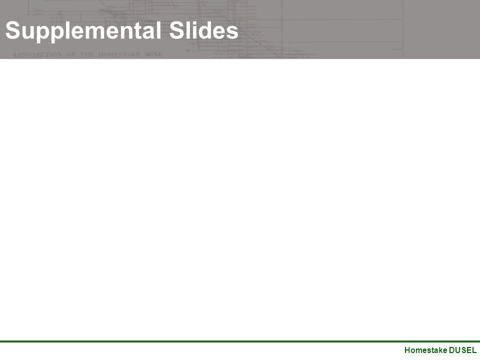 Homestake DUSEL Supplemental Slides