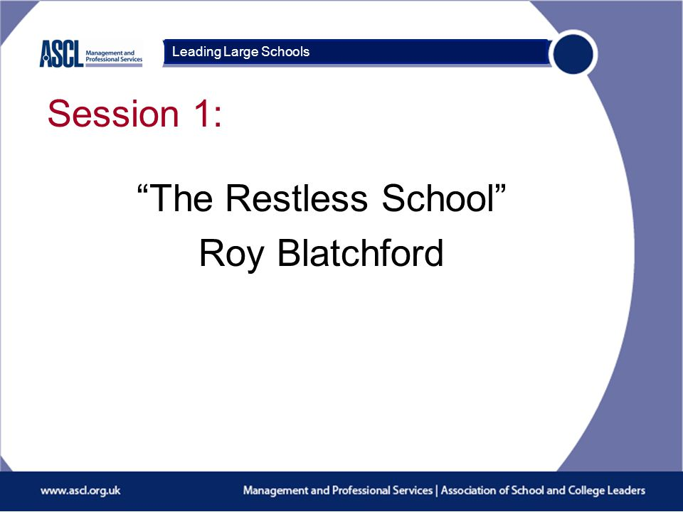 Course Title Session 2: Reviewing the impact of your school mini-project Leading Large Schools