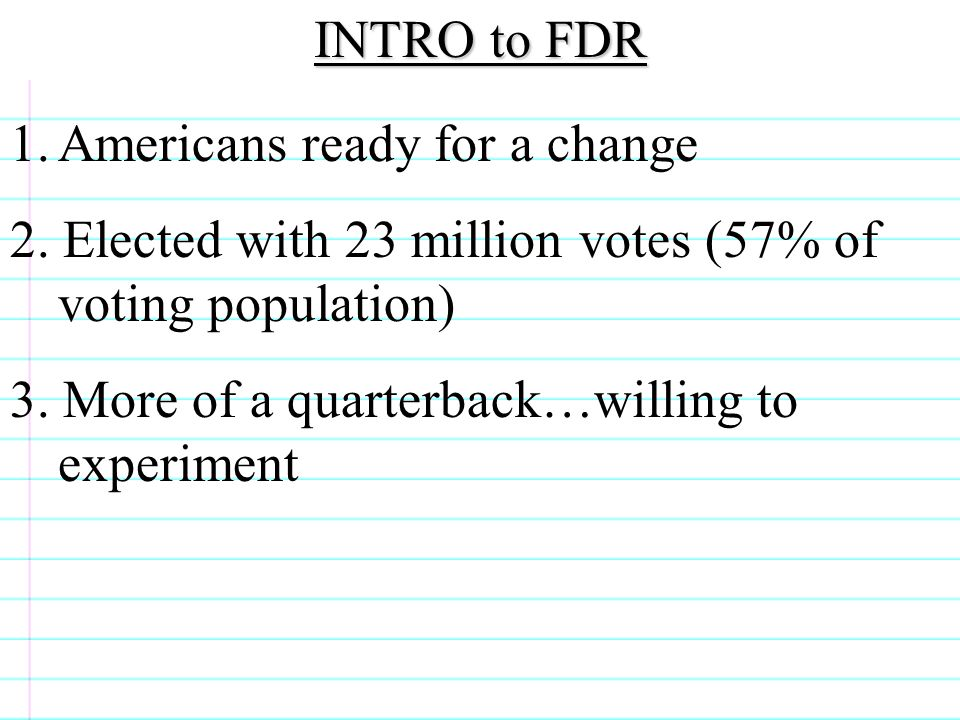 experimentation FDR claims he will employ with bold consistent experimentation when he gets in office