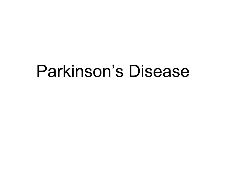 Progression of Parkinson's Disease Unified Parkinson's Disease Rating Scale (UPDRS) No medication needed.