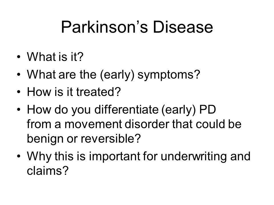 Parkinson's vs.