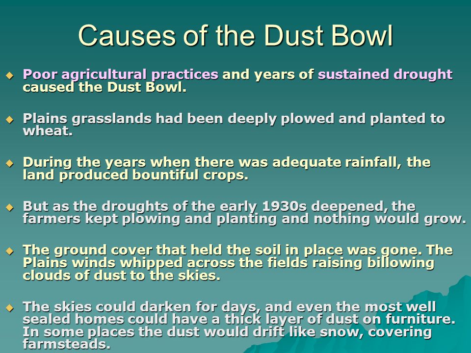 The Dust Bowl: American History - 123HelpMe