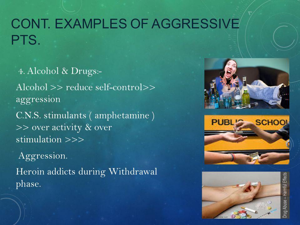 CONT.EXAMPLES OF AGGRESSIVE PTS.:- 5.