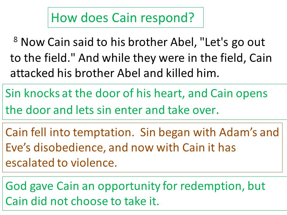 8 Now Cain said to his brother Abel,