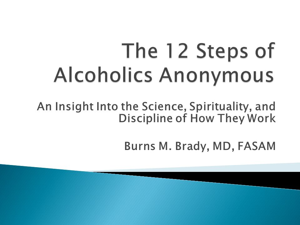 Step 12: A) Having had a spiritual awakening as the result of these steps B) We tried to carry this message to alcoholics (experience, strength, hope) C) Practice these principles in all our affairs (Design for living)