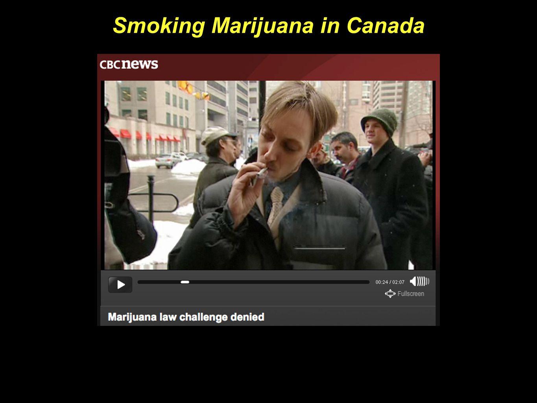 Smoking Marijuana in Canada