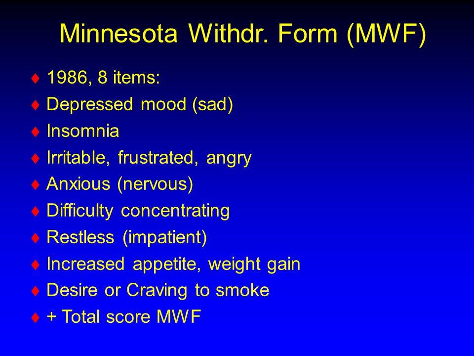 Minnesota Withdr.