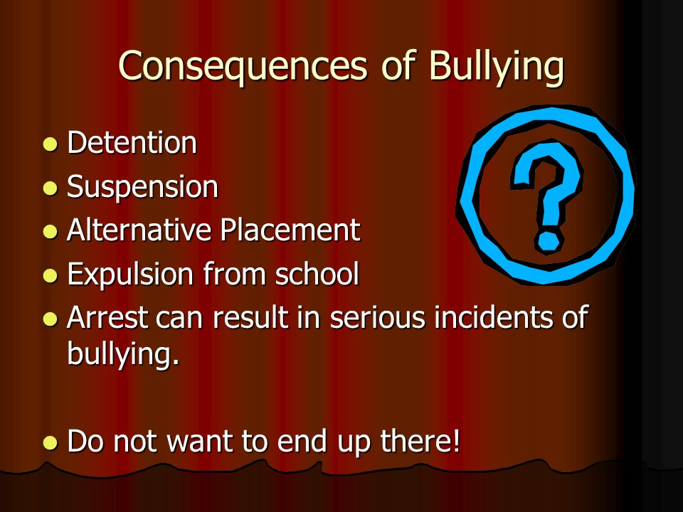 VERY IMPORTANT Bullying is not allowed at Guillen.