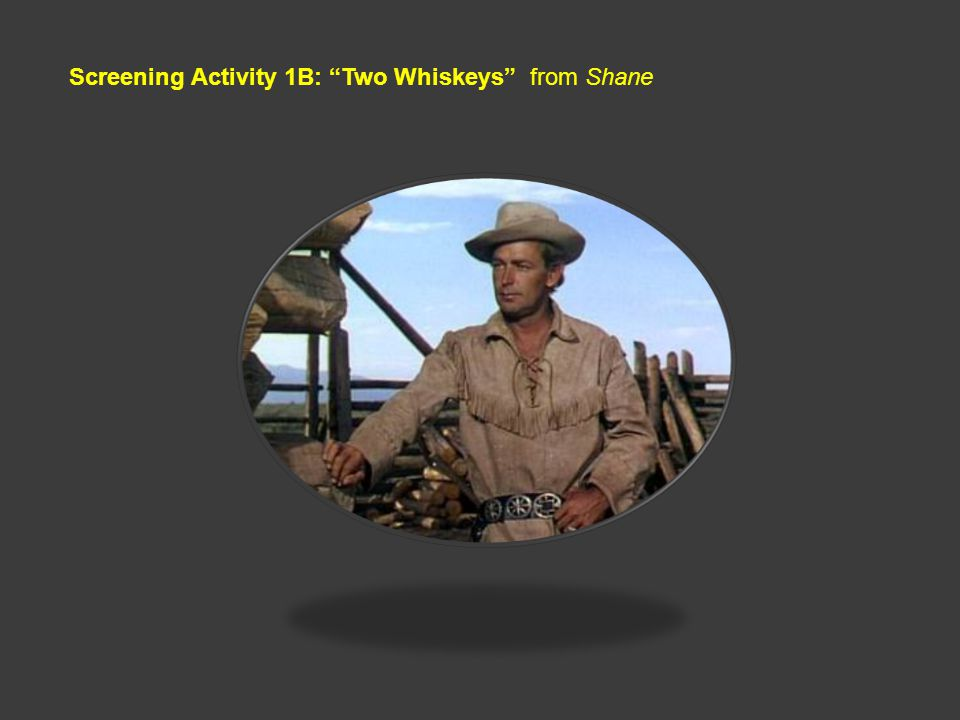 Screening Activity 1B: Two Whiskeys from Shane