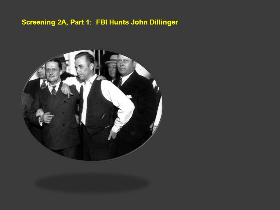 Screening 2A, Part 1: FBI Hunts John Dillinger