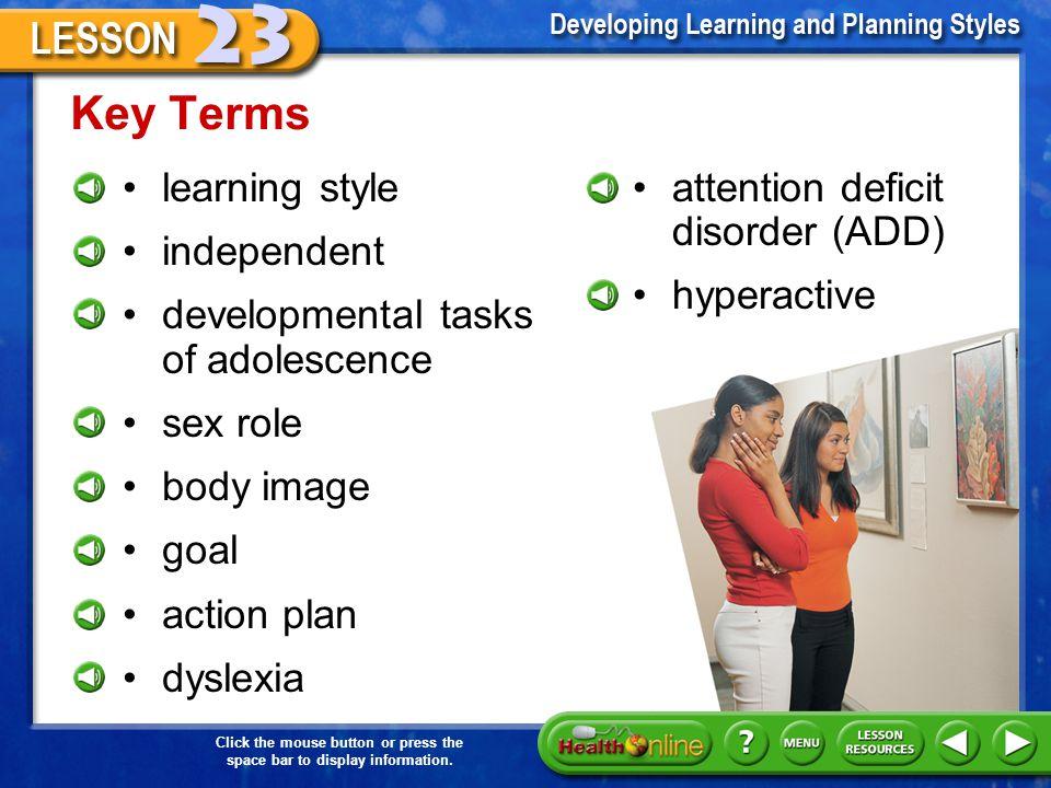 Lesson Resources Interactive Tutor Web Links Self-Check Quiz www.glencoe.com Go to www.glencoe.com to find Health & Wellness Web resources.www.glencoe.com