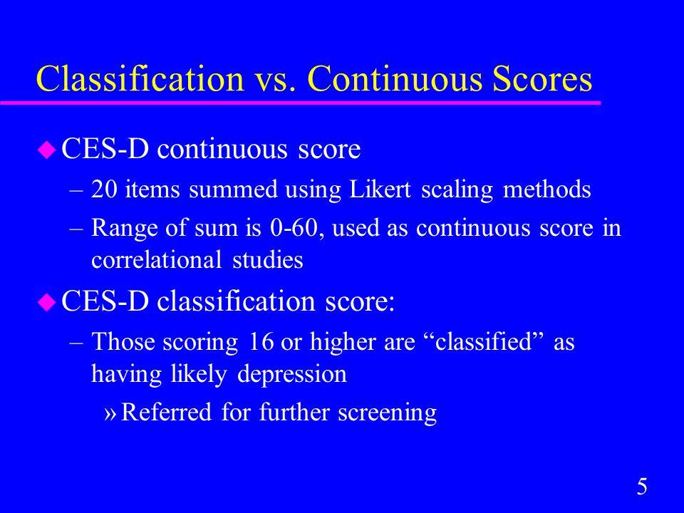 5 Classification vs.