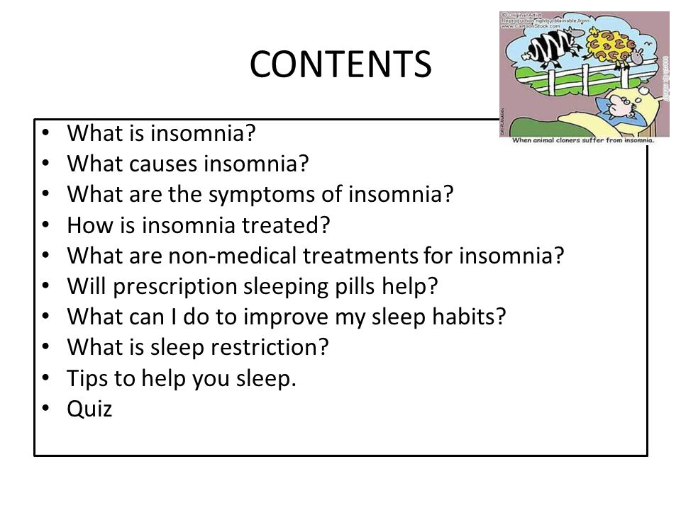 What is insomnia.