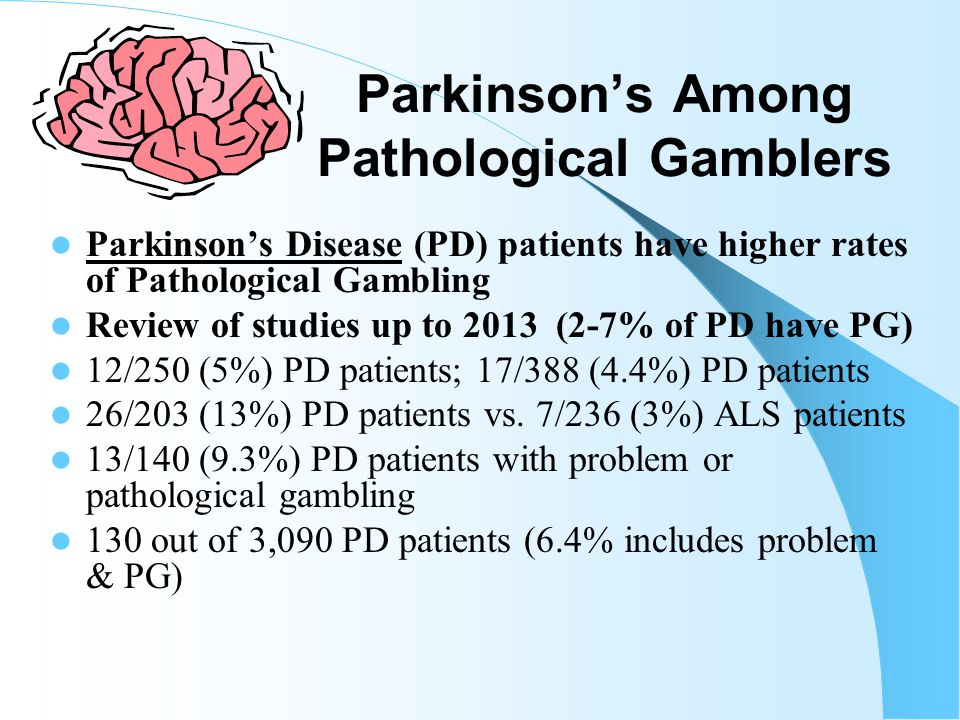 Health & Problem Gambling National Epidemiological Survey on Alcoholism and Related Conditions 43,093 Americans surveyed in 2006 Pathological gamblers