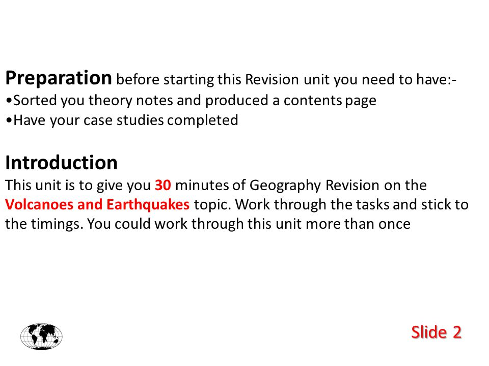 Slide 3 You may begin….. Record down your start time