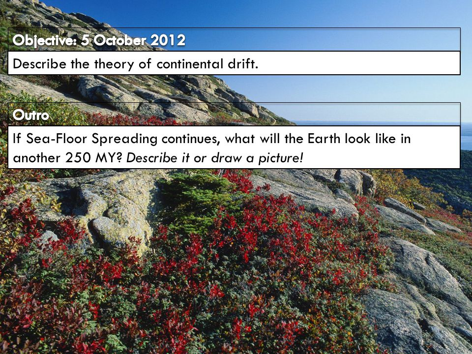 Describe the theory of continental drift.